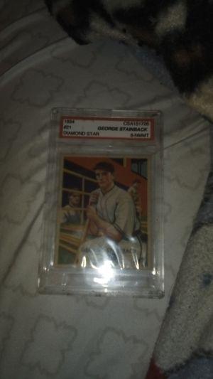 1934 George Stainback major league baseball card (SUPER RARE) for Sale in Oakley, CA
