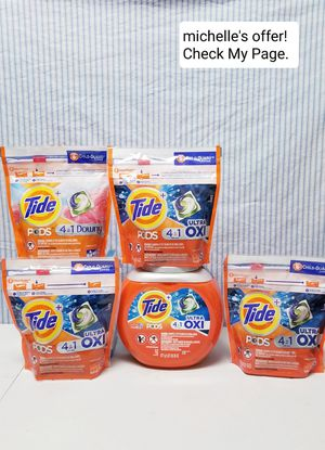 Tide pods 4in1 Ultra Oxi /with Downy set for Sale in Camp Springs, MD