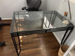 High fashion glass desk table for Sale in Houston, TX
