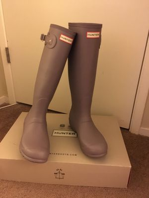100% Authentic Brand New in Box Hunter Original Tall Rain Boots / Women US size 9 (EU 39) / Color: Thundercloud for Sale in Walnut Creek, CA