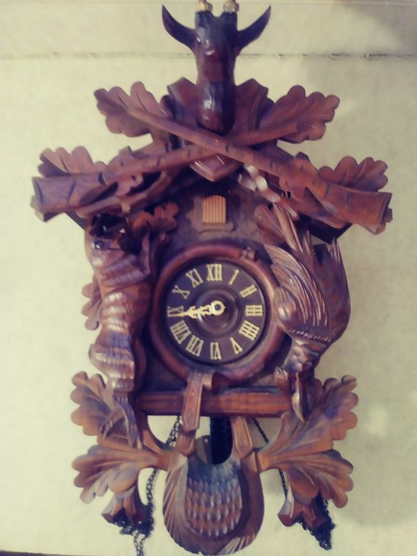 German antique cuckoo clock