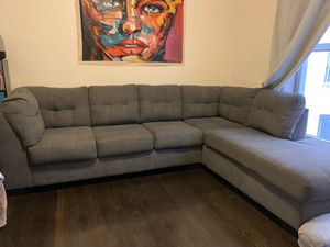 Gray sectional couch for Sale in New York, NY