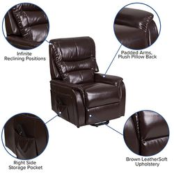 Electric Power Lift Chair Recliner - Brown for Sale in Powder Springs,  GA