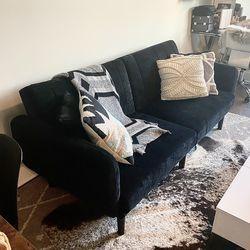 Modern Sofa & Futon - Black Suede for Sale in Nashville,  TN