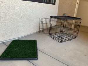 Pet Crate & Artificial Grass PAD for Sale in Henderson, NV