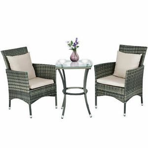 Rattan Coffee Table & Chairs 3pcs. for Home Decor for Sale in Phoenix, AZ