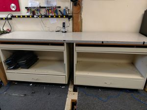 Free 2 8 ft work benches 37 inches high for Sale in Midland Park, NJ