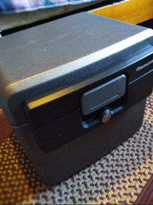Sentry safe file box with keys weatherproof water fire proof for Sale in Lexington, KY