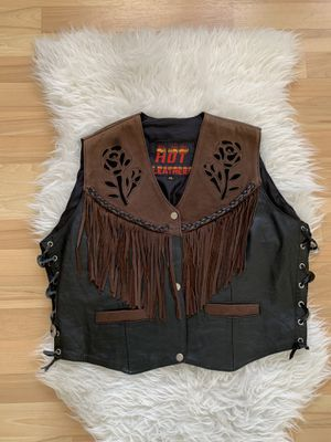 Women's Hot Leathers Floral Fringe Vest for Sale in Miami, FL