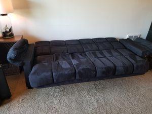 """Sleeper Couch - Black """"Velvet"""" for Sale in Portland, OR"""