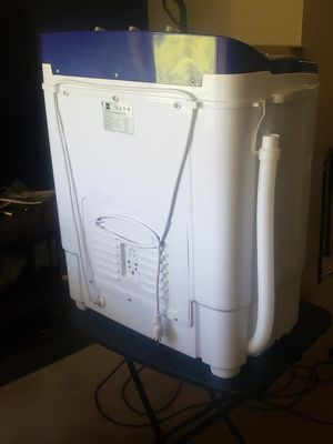 Portable compact mini tub washing machine and spin cycle w/hose for Sale in Sioux City, IA