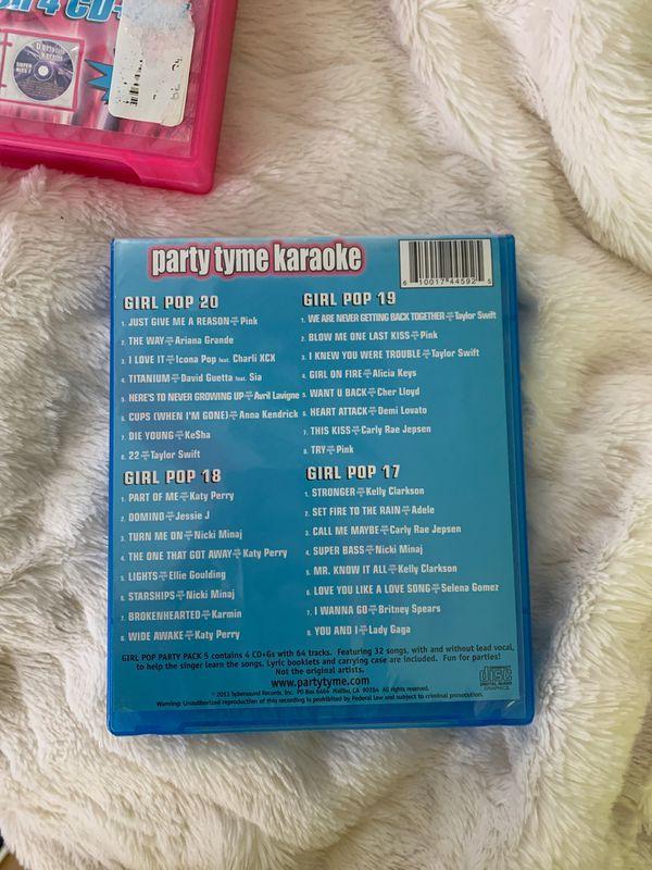 2 Box Karaoke CD sets (4 discs per box)
