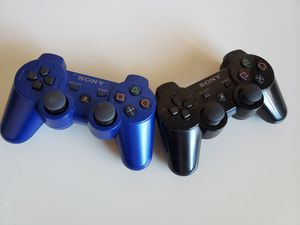 PS3 Black & Blue 2-Pack Controller Official Sony Wireless Dualshock 3. for Sale in Hyattsville, MD