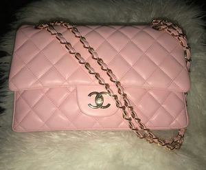 Baby Pink leather evening shoulder bag for Sale in Las Vegas, NV