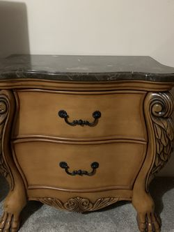 High quality wood nightstands with marble countertops for Sale in Manassas,  VA