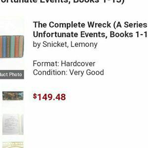 Book Series Unfortunate Events for Sale in Carson, CA