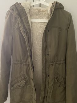 Olive Green Parka Cozy-Lined for Sale in Weston,  FL