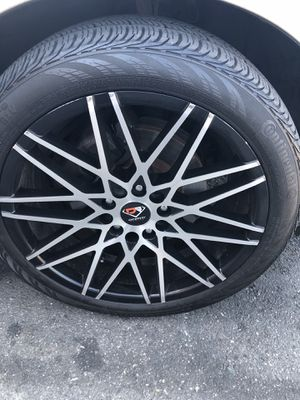 "18"" rims 4 rims 4 tires for Sale in Washington, DC"