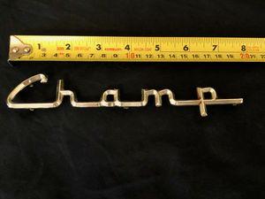 Studebaker Champ Script 4-Prong Emblem 1960-63 Original Vintage Part #1655546 for Sale in San Diego, CA