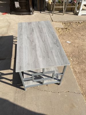 Rectangular coffee table with lower shelf for Sale in Phoenix, AZ