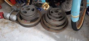 Olympic weight set with curl bar and sled for Sale in Lake Worth, FL