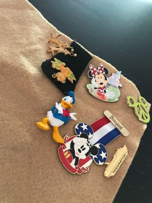 Disney pins, earrings and necklace charms for Sale in Odessa, FL