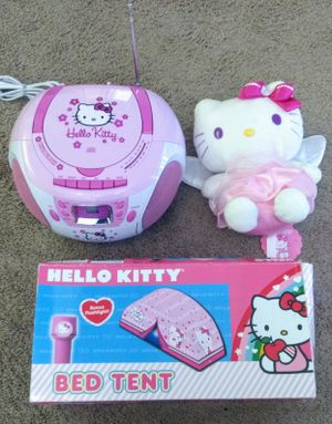 Hello Kitty Compact Disc Player, Tape Recorder and Stereo Radio + Bed Tent + Plush Toy for Sale in Fort Lauderdale, FL