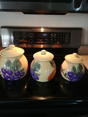 3 ceramic storage containers for Sale in Glendale, AZ