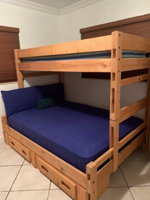 Twin/Full Storage Bunk Bed for Sale in Oakland Park, FL