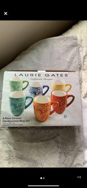 6 piece paisley mug set for Sale in Stockton, CA
