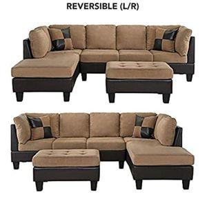 Casa Andrea (Modern 3- Piece Microfiber and faux leather sofa Ottoman Set for Sale in Phoenix, AZ