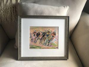 Custom Framed Cyclist Print for Sale in Chapel Hill, NC