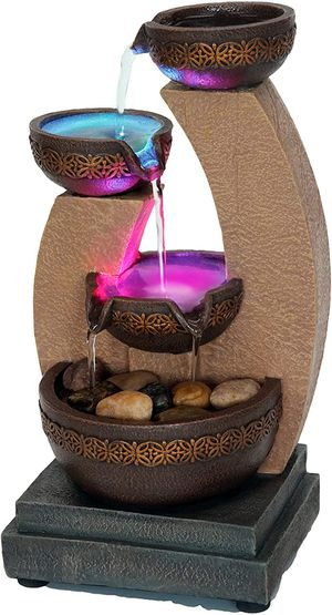 """11"""" Bowl Design Color Changing LED Fountain, No Adapter for Sale in Wilkes-Barre, PA"""