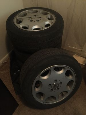 4- Mercedes Benz Rims and Tires tires have 10-20% tread left for Sale in Washington, DC