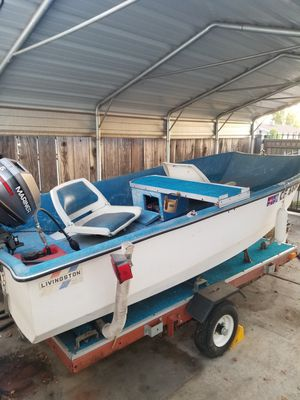 10 foot Livingston boat and trailer for Sale in Stockton, CA