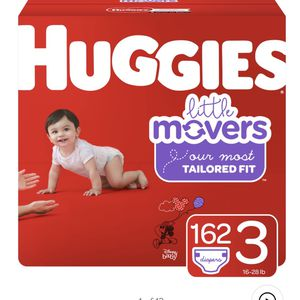Huggies Little Movers Size 3 162 for Sale in Glendora, CA