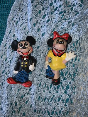 Vintage painted Mickey and Minnie Mouse for Sale in Hialeah, FL
