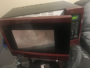 Red name-brand Microwave for Sale in Detroit, MI