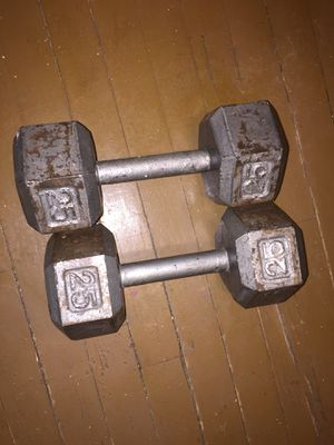 I'm selling these 25 pound dumbbells, 2 for 40$, pick up only for Sale in Chicago, IL
