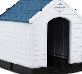 Giantex Plastic Dog House Waterproof Ventilate Pet Kennel with Air Vents and Elevated Floor for Indoor Outdoor Use Pet Dog House for Sale in Pomona,  CA