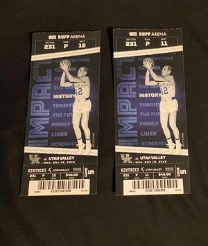 2 UK vs Utah Valley tickets for Sale in Morganfield, KY