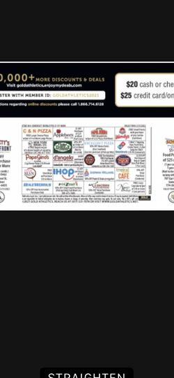 Discount Card For Somerset Berkley Football for Sale in Somerset,  MA