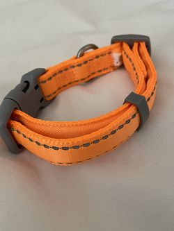 Orange Padded Reflective Dog Collar Small New Never Used Never Worn for Sale in Los Angeles,  CA