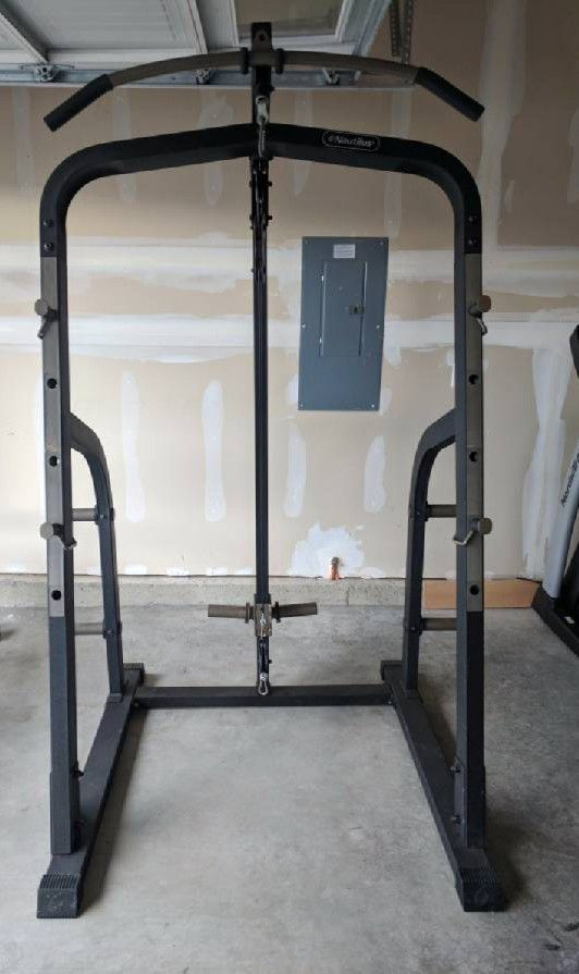 Nautilus Squat Rack With Lat Pull Down For Sale In Tacoma Wa Offerup