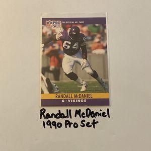 Randall McDaniel Minnesota Vikings Hall of Fame Guard 1990 Pro Set Base Card. for Sale in San Jose, CA