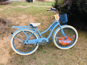 """Huffy 26"""" Nel Lusso Women's classic Cruiser Bike with Perfect Fit Frame, Light blue* for Sale in Lawrenceville, GA"""