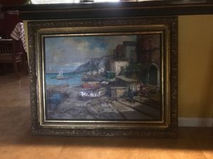 Italy By The Sea Canvas Painting for Sale in Port St. Lucie, FL