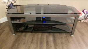 Glass tv stand for Sale in Modesto, CA