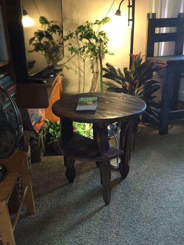 Patio table shou Sufi ban, new real pine and cedar wood