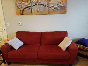 Royal red fabric sofa for Sale in Salt Lake City, UT